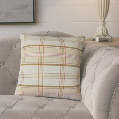 Pouliot Plaid Cotton Throw Pillow
