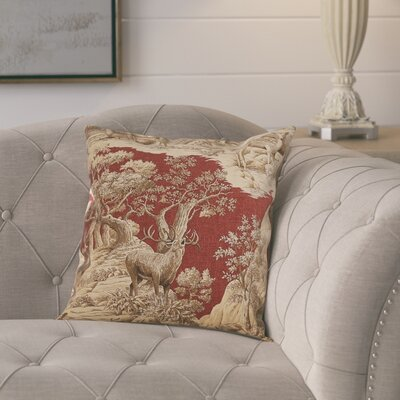 Leora 100% Cotton Throw Pillow Color: Redwood Back, Size: 18x18