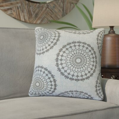 Windsor Geometric Cotton Throw Pillow Color: Blue