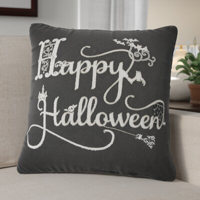 Happy Halloween 100% Cotton Throw Pillow