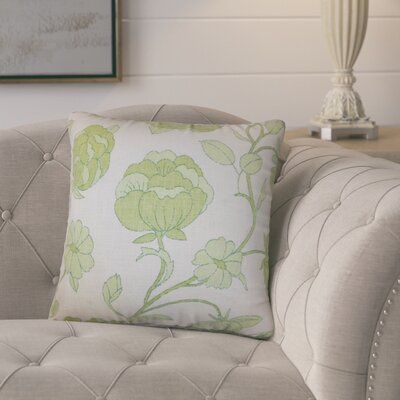 Larios Floral Cotton Throw Pillow