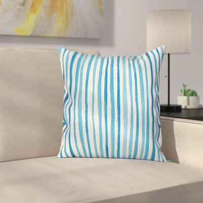 Stripe Marine Cottage Square Cushion Pillow Cover Size: 18 x 18