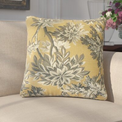 Lorriane Floral Cotton Throw Pillow Color: Yellow