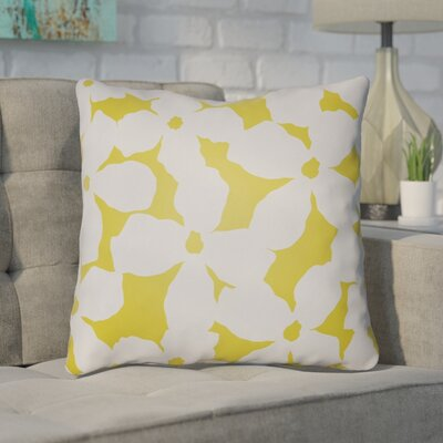 Gibson Throw Pillow Size: 22 H �x 22 W x 5 D, Color: Grey/Yellow