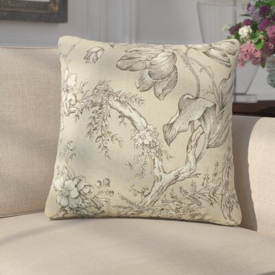 Gudrun Floral Cotton Throw Pillow