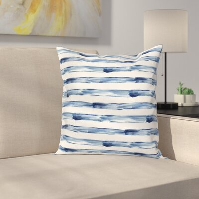 Stripe Brush Square Cushion Pillow Cover Size: 18 x 18