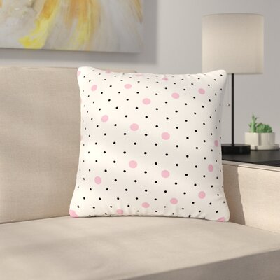 Project M Pin Points Polka Dot Outdoor Throw Pillow Size: 16 H x 16 W x 5 D