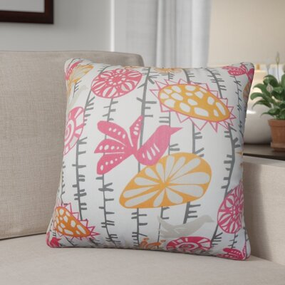 Patterson Floral Cotton Throw Pillow Cover Color: Sherbet