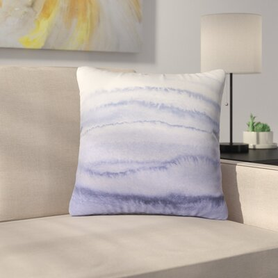 Throw Pillow Size: 16 H x 16 W x 4 D, Color: Lilac Gray