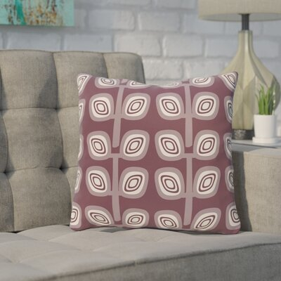 Philon Leaf Tree Geometric Outdoor Throw Pillow Color: Purple