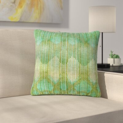 Michelle Drew Vintage Outdoor Throw Pillow Size: 16 H x 16 W x 5 D, Color: Teal