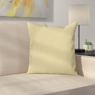 Diamond Line Pattern Cushion Pillow Cover Size: 18 x 18