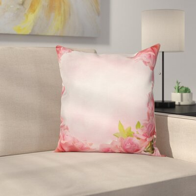 Romantic Roses Bridal Square Pillow Cover Size: 16 x 16