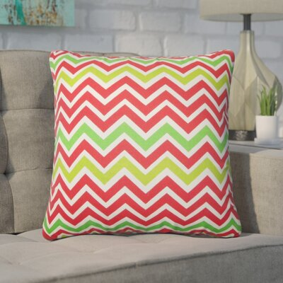 Bouck Zigzag Cotton Throw Pillow Color: Red