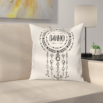 Case Boho Tribal Folkloric Square Pillow Cover Size: 16 x 16
