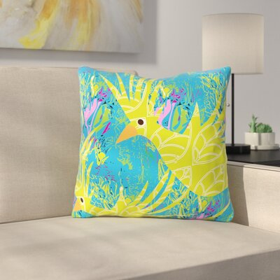 Tropical Fly by Patternmuse Throw Pillow Size: 16 H x 16 W
