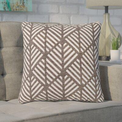 Darren Geometric Design Square Throw Pillow Color: Dark Taupe
