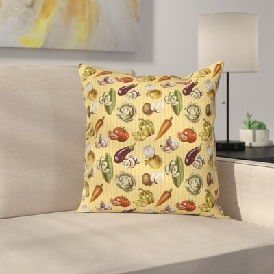 Vegetables Square Pillow Cover Size: 20 x 20