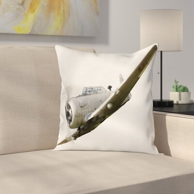 Airplane Historical Aircraft Square Pillow Cover Size: 20 x 20