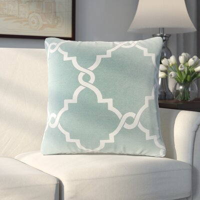 Allard Fretwork Throw Pillow Color: Seafoam