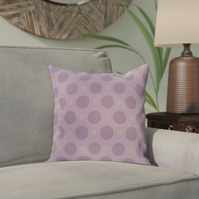 Katrina Geometric Throw Pillow Size: 18 H x 18 W, Color: Purple / Green