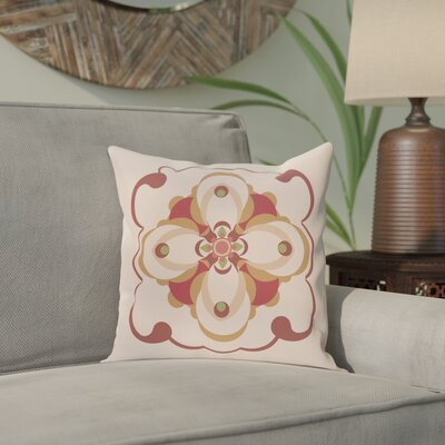 Anita Geometric Throw Pillow Size: 16 H x 16 W, Color: Taupe / Rust