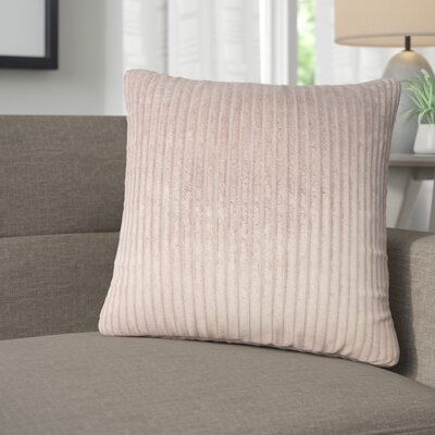 Galilea Solid Throw Pillow Color: Chocolate