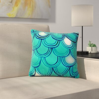 Tail by Theresa Giolzetti Outdoor Throw Pillow Color: Teal