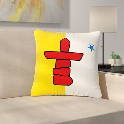 Bruce Stanfield Flag of Nunavut Tribal Outdoor Throw Pillow Size: 18 H x 18 W x 5 D