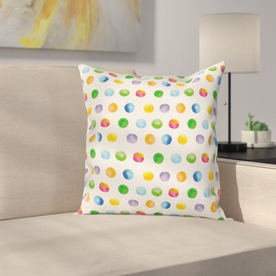 Big Polka Dots Cushion Pillow Cover Size: 16 x 16