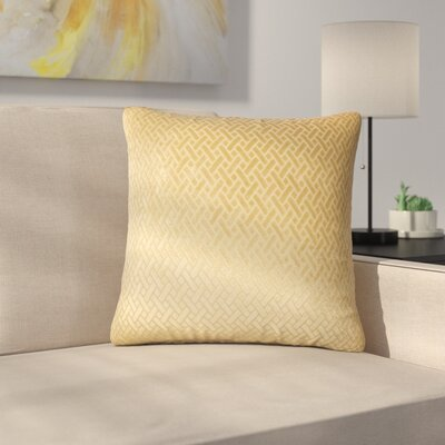 Stradford Solid Throw Pillow Color: Gold