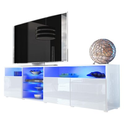 Prieto Roma 79 TV Stand Color: White