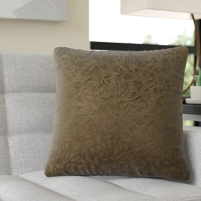 Aymond Square Throw Pillow Color: Dark Green