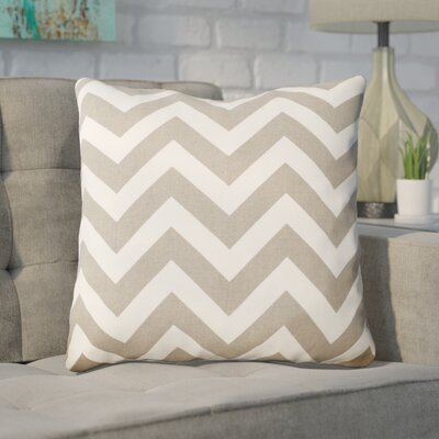 Bollin Chevron 100% Cotton Indoor Throw Pillow Color: Gray