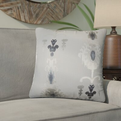 Gamble Ikat Cotton Throw Pillow Color: Pewter