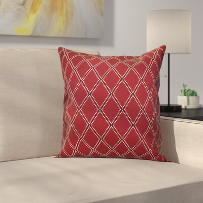 Decorative Holiday Geometric Print Throw Pillow Size: 16 H x 16 W, Color: Cranberry