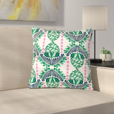 Amy Reber Tassles Line Illustration Outdoor Throw Pillow Size: 18 H x 18 W x 5 D