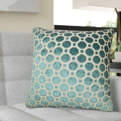 Richart Geometric Cotton Throw Pillow Color: Navy