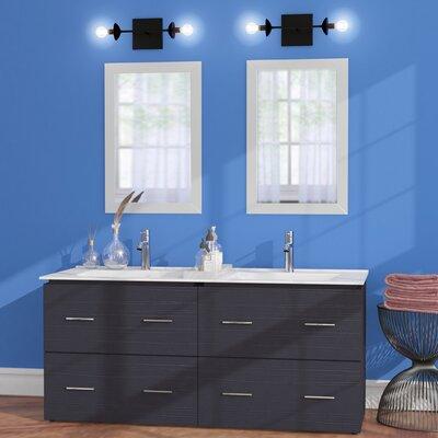 Maryalice Wall Mount 48 Double Bathroom Plywood Vanity Set Base Finish: Dawn Gray