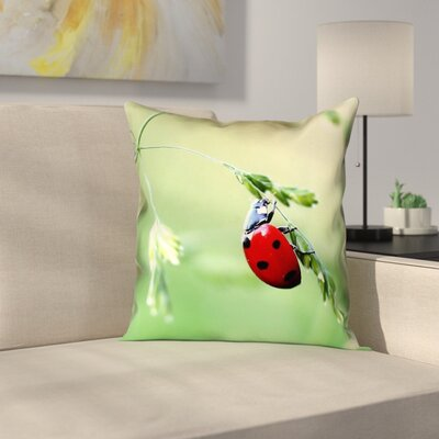 Duriel Double Sided Print Zipper Square Pillow Cover with Concealed Zipper Size: 16