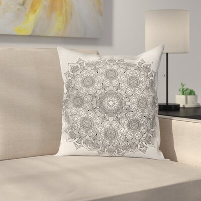 Mandala Ottoman Floral Square Pillow Cover Size: 18 x 18