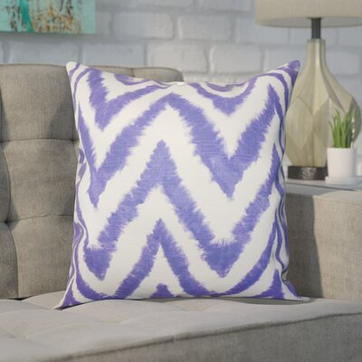 Dawkins Cotton Throw Pillow Color: Purple, Size: 20 H x 20 W