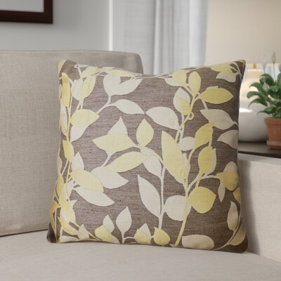 Franciscan Throw Pillow Size: 22 H x 22 W x 4 D, Color: Pewter / Yellow/Beige, Filler: Down
