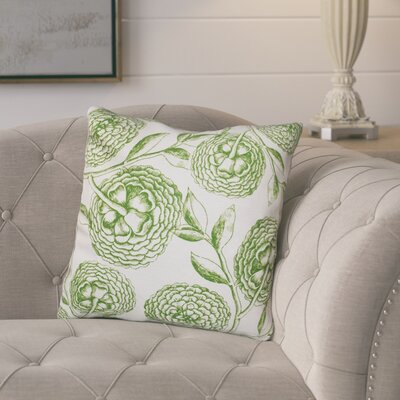 Jud Blooms Antique Flower Throw Pillow Size: 16 H x 16 W, Color: Green