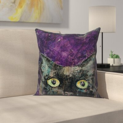 Michael Creese Night Prowler Throw Pillow Size: 16 x 16