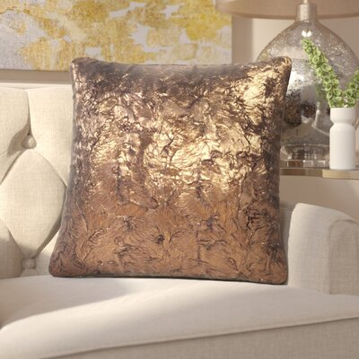 Kai Throw Pillow Size: 20 H x 20 W x 4 D, Color: Gold Cougar