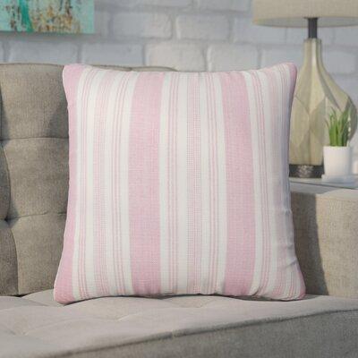 Wallin Striped Cotton Throw Pillow Color: Bubble Gum