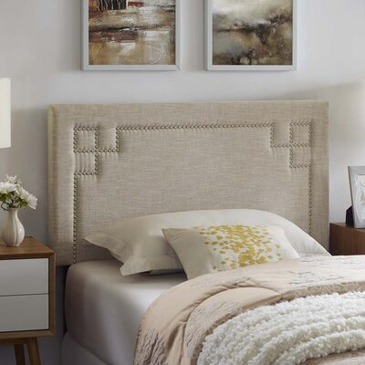 Kerley Fabric Upholstered Panel Headboard Size: Twin