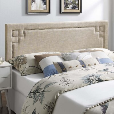 Kerley Fabric Upholstered Panel Headboard Size: Queen