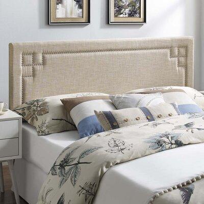 Kerley Fabric Upholstered Panel Headboard Size: Queen
